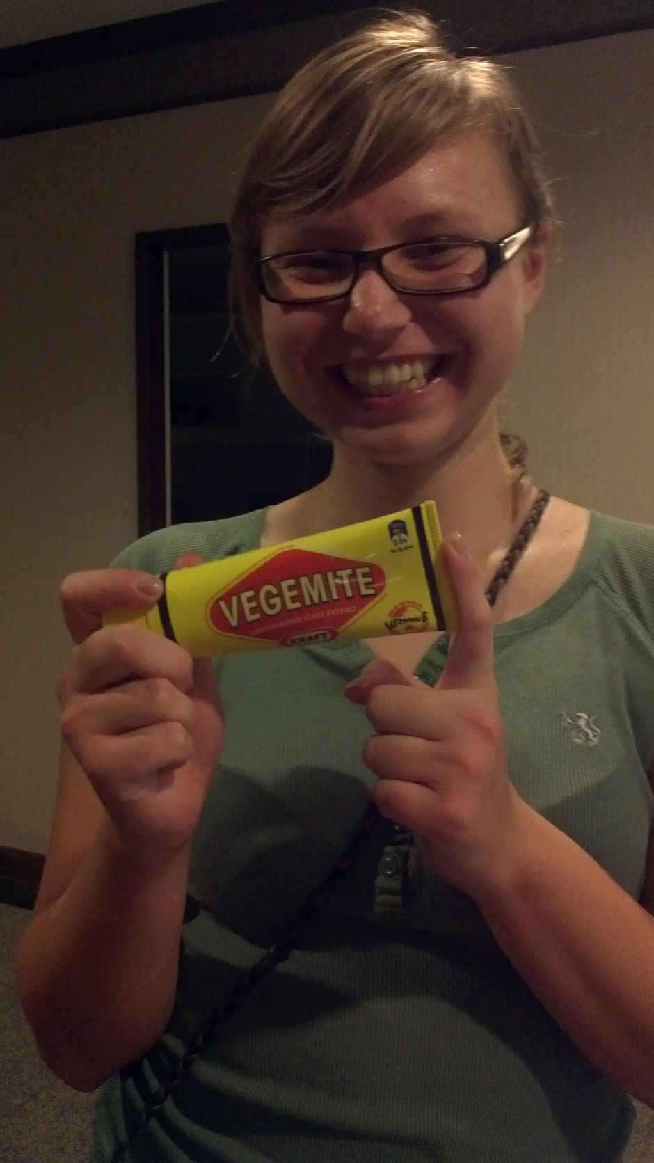 Another way He loved me today... :) #vegemite #surprise