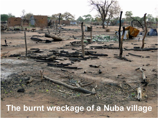 Burnt Nuba Village
