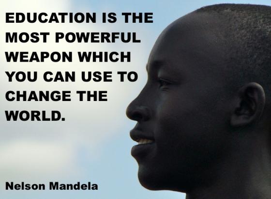 Education - Mandela Quote